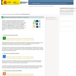Aplicaciones informática para Smartphone o Tablet (APP)