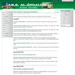 I.E.S. Al-Ándalus - Física y Química. Aplicaciones informáticas