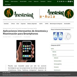 Aplicaciones interesantes de Anestesia y Reanimación para Smartphones