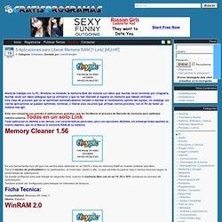 Descargar 5 Aplicaciones para Liberar Memoria RAM [1 Link] [MU-HF