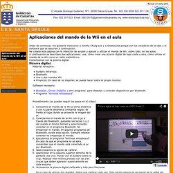 Aplicaciones del mando de la Wii en el aula - I.E.S. SANTA ÚRSULA