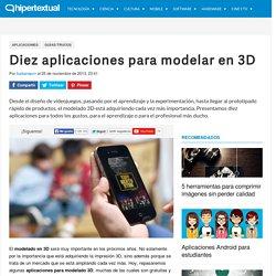 Aplicaciones para modelado 3D