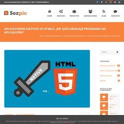 Aplicaciones nativas VS HTML5