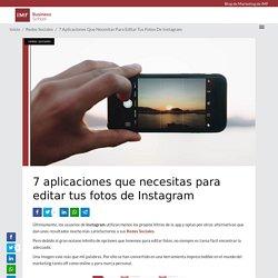 7 aplicaciones que necesitas para editar tus fotos de Instagram