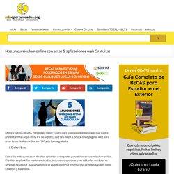 Haz un currículum online con estas 5 aplicaciones web Gratuitas - Más Oportunidades