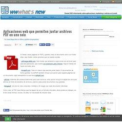 Aplicaciones web que permiten juntar archivos PDF en uno solo