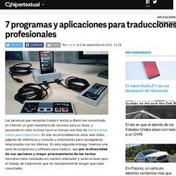 7 programas y aplicaciones para traducciones profesionales