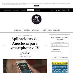 Aplicaciones de Anestesia para smartphones: IV parte - AnestesiaR