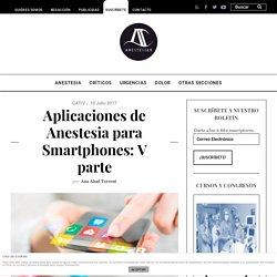 Aplicaciones de Anestesia para Smartphones: V parte