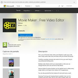 Movie Maker : Free Video Editor – Aplicaciones de Windows en Microsoft Store
