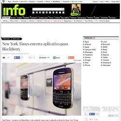 New York Times encerra aplicativo para BlackBerry - Mercado