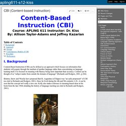 apling611-s12-kiss - CBI (Content-based instruction)