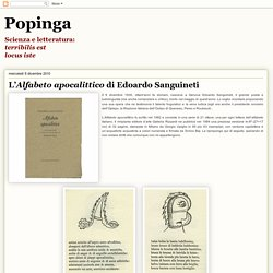 L'Alfabeto apocalittico di Edoardo Sanguineti