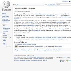 Apocalypse of Thomas
