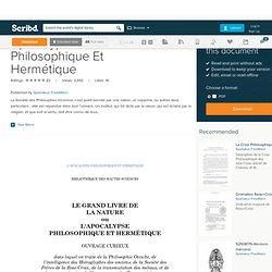 Apocalypse Philosophique Et Hermétique