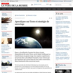 Apocalypse sur Terre et stratégie de sauvetage