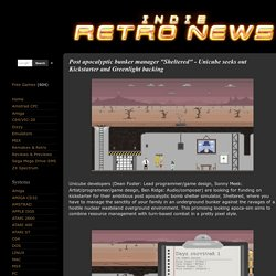 """Indie Retro News: The latest free games, indie games and retro news: Post apocalyptic bunker manager """"Sheltered"""" - Unicube seeks out Kickstarter and Greenlight backing"""
