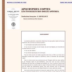 Apocryphes coptes : Les évangiles des souze apôtres et de Saint Barthélémy