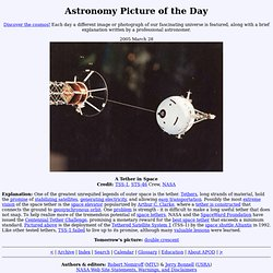 2005 March 28 - A Tether in Space
