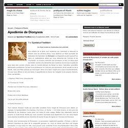 Apodémie de Dionysos