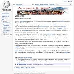 Apodittica - Wikipedia - Cyberfox