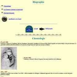 Guillaume Apollinaire site officiel: Biographie: Chronologie