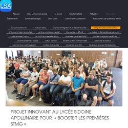 Lycée Sidoine Apollinaire - Intégration des premières STMG