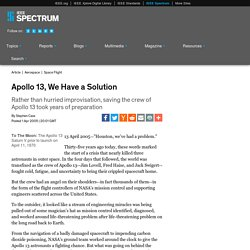 Apollo 13, We Have a Solution