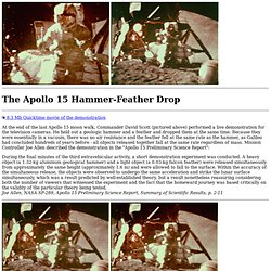 Apollo 15 Hammer-Feather Drop