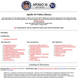 Apollo 16 Video Library
