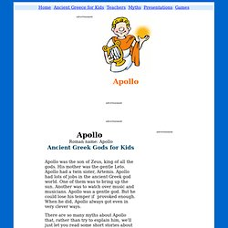 Apollo - Ancient Greek & Roman Gods for Kids