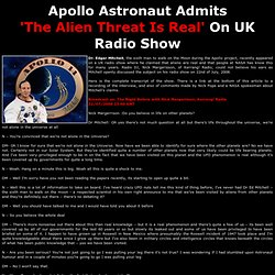 Apollo Astronaut Says 'UFOs Are Real'