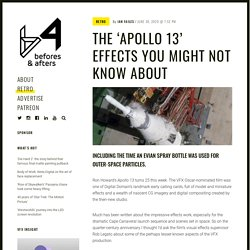 The 'Apollo 13' effects you might not know about - befores & afters