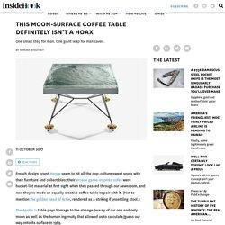 Harow Apollo 11 Resin Fiberglass Moon Surface Table