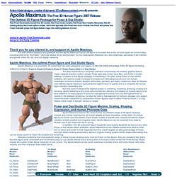 ApolloMaximus:Free 3D Human Poser Figure Downloads for Poser 7/Daz3D Studio