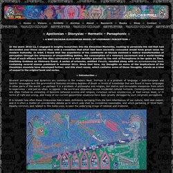 Apollonian – Dionysiac – Hermetic – Persephonic