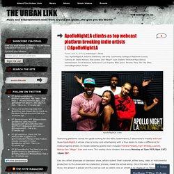 ApolloNightLA climbs as top webcast platform breaking indie artists