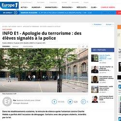 INFO E1 - Apologie du terrorisme : des élèves signalés à la police