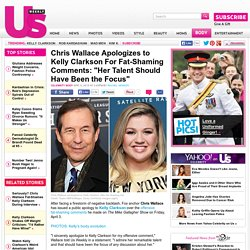 Chris Wallace Apologizes to Kelly Clarkson For Fat-Shaming Comments