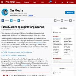 Fareed Zakaria apologizes for plagiarism
