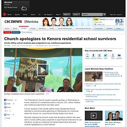 Church apologizes to Kenora residential school survivors - Manitoba