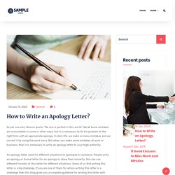 Apology Letter - Useful Tips for Writing Letter of Apology