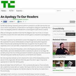 An Apology To Our Readers