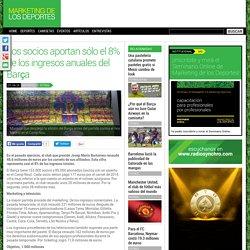 Los socios aportan sólo el 8% de los ingresos anuales del Barça