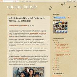 « Je Suis Asia Bibi », tel Doit être le Message de l'Occident