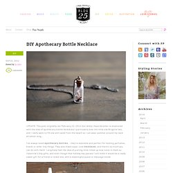 DIY Apothecary Bottle Necklace – How To Make Apothecary Bottle Necklaces