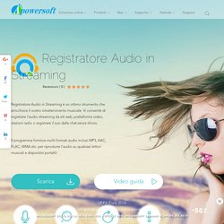 Apowersoft Registratore Audio in Streaming - Registra audio in streaming, converte in formato audio e scarica musica gratuita