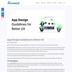 App Design Guidelines for Better UX - Design