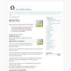 App Inventor 2 - Les Maths Libres