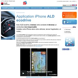 App iPhone ALD ecodrive